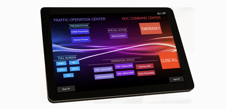 ControlVu Touch Panel