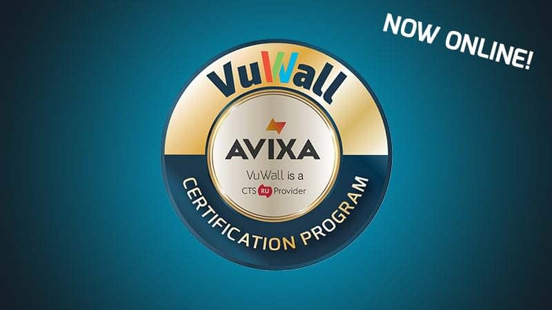 Avixa vuwall certification program crest